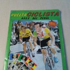 Coleccionismo Álbum: ÁLBUM COMPLETO VUELTA CICLISTA ESPAÑA ASES DEL PEDAL 1987 ORIGINAL CICLISMO. Lote 128607199