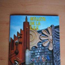 Coleccionismo Álbum: ALBUM CROMOS COMPLETO BITLLETS DE LA CEE. CAIXA CATALUNYA. CAJA AHORROS DE CATALUÑA. VER FOTOS. Lote 128677195