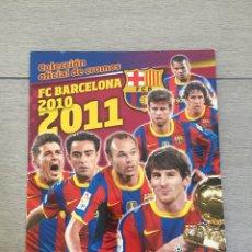 Collezionismo Álbum: ÁLBUM DE CROMOS COMPLETO. FC BARCELONA, 2010-2011. PANINI.. Lote 217670401