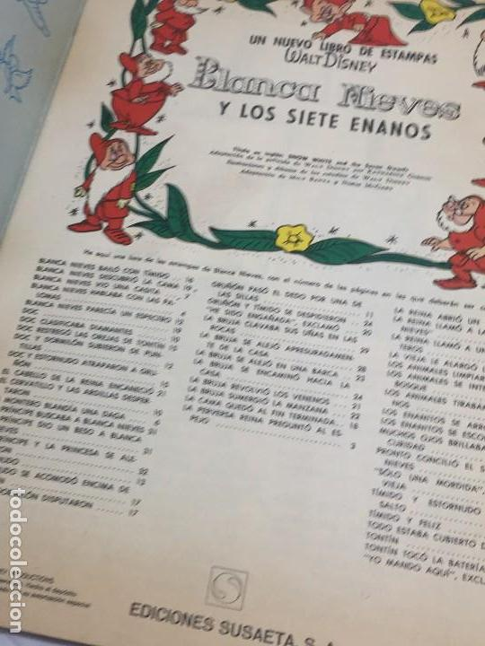 Coleccionismo Álbum: Libro de estampas Blanca Nieves 1970 completo editorial Susaeta Disnay relato de la película - Foto 2 - 129407491