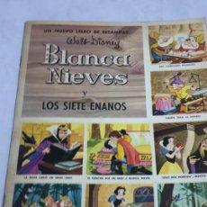 Coleccionismo Álbum: LIBRO DE ESTAMPAS BLANCA NIEVES 1970 COMPLETO EDITORIAL SUSAETA DISNAY RELATO DE LA PELÍCULA. Lote 129407491