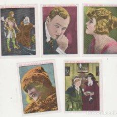 Coleccionismo Álbum: CINE ARTISTAS Y PELÍCULAS. PUBLICIDAD DE LA ALICANTINA-SEVILLA. LOTE DE 5 CROMOS (9X6,5) AÑOS 20. Lote 129511584