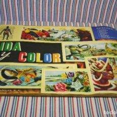 Coleccionismo Álbum: ALBUM COMPLETO VIDA Y COLOR 1965. Lote 129688699