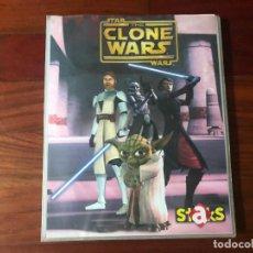 Coleccionismo Álbum: ALBUM COMPLETO STICKERS 150 STAR WARS - CLONE WARS. Lote 130128207