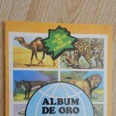 Coleccionismo Álbum: ALBUM DE ORO DE LOS ANIMALES MI ALBUM DE CROMOS AÑO 1979 EDITORIAL NUEVA SITUACIÓN COMPLETO. Lote 130483126