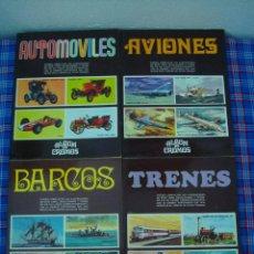 Coleccionismo Álbum: ALBUMES AUTOMOVILES AVIONES BARCOS TRENES. Lote 130940204