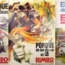 Coleccionismo Álbum: ALBUM 1971 1972 1973 EL PORQUE DE LAS COSAS 1, 2 Y 3 BIMBO. COMPLETOS. DEPORTE TRANSPORTES CASTILLO. Lote 84113872