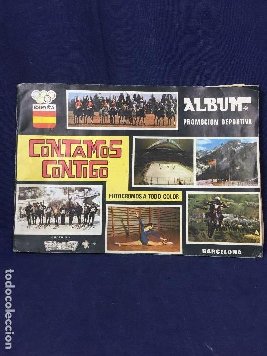 ÁLBUM CONTAMOS CONTIGO COMPLETO ÁLBUM PROMOCIÓN DEPORTIVA COLED AÑO 1968 24,5X35,5 (Coleccionismo - Cromos y Álbumes - Álbumes Completos)