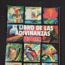 Coleccionismo Álbum: ALBUM EL LIBRO DE LAS ADIVINANZAS DE BIMBO. COMPLETO.. Lote 132176762