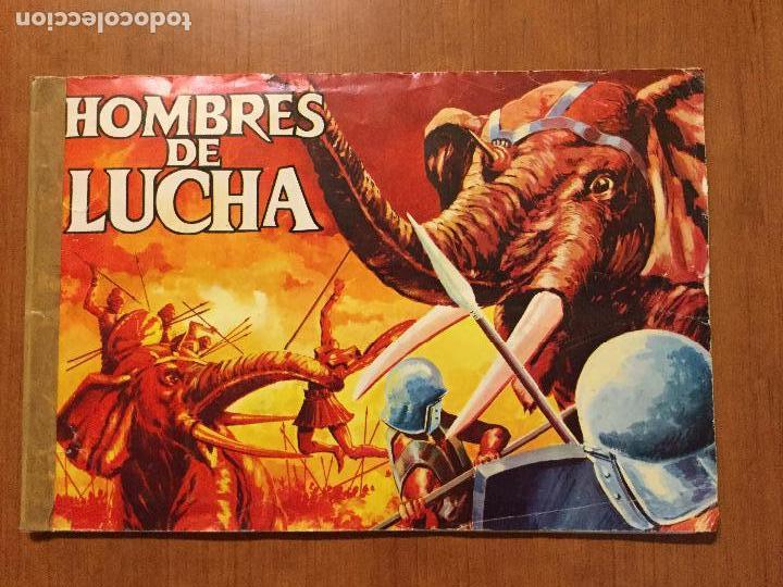 ALBUM DE CROMOS HOMBRES DE LUCHA. COMPLETO. (Coleccionismo - Cromos y Álbumes - Álbumes Completos)