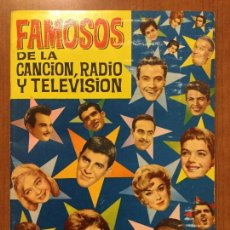 Coleccionismo Álbum: ALBUM DE CROMOS COMPLETO FAMOSOS DE LA CANCION, RADIO Y TELEVISIÓN. BUEN ESTADO CON HOJA DE PEDIDO.. Lote 132222130