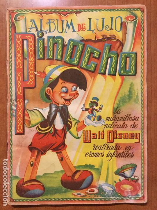 ALBUM DE CROMOS PINOCHO. EDICION LUJO FHER. COMPLETO. (Coleccionismo - Cromos y Álbumes - Álbumes Completos)