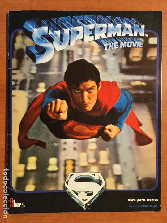 ALBUM COMPLETO SUPERMAN, THE MOVIE. COMPLETO. (Coleccionismo - Cromos y Álbumes - Álbumes Completos)