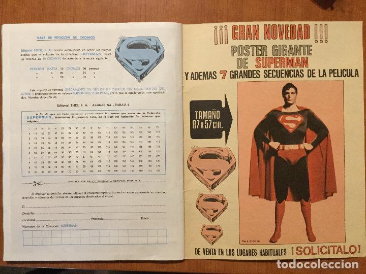 Coleccionismo Álbum: ALBUM COMPLETO SUPERMAN, THE MOVIE. COMPLETO. - Foto 7 - 132223782