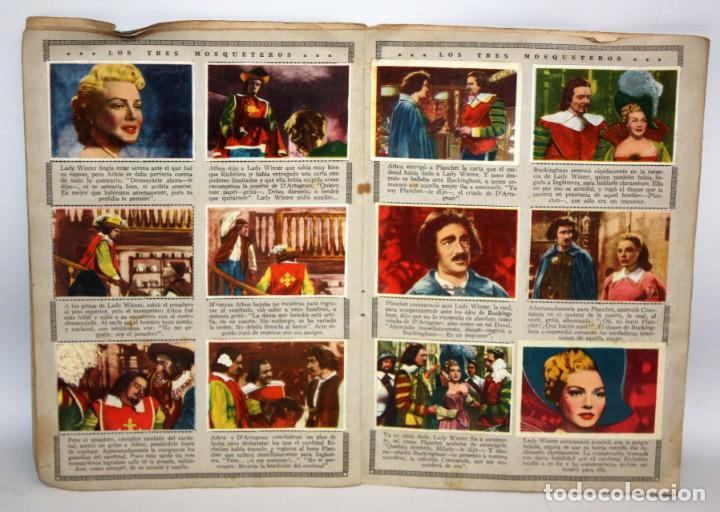 Coleccionismo Álbum: ALBUM LOS TRES MOSQUETEROS. EDITORIAL BRUGUERA. AÑO 1952. COMPLETO 144 CROMOS. - Foto 4 - 132292194