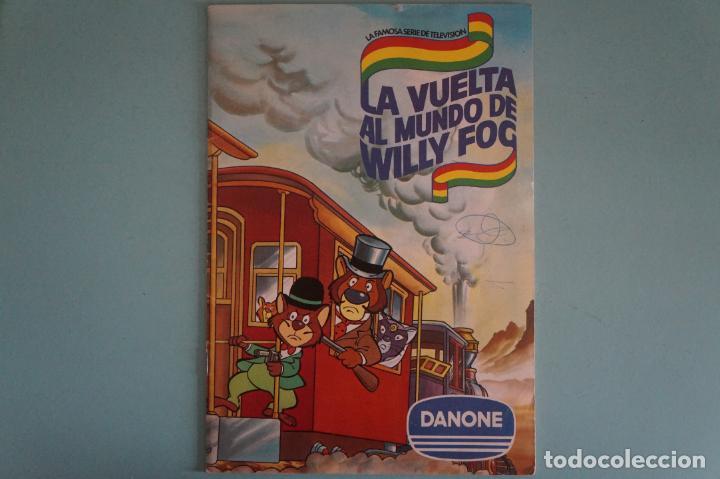 ÁLBUM COMPLETO DE LA VUELTA AL MUNDO DE WILLY FOG AÑO 1983 DE DANONE (Coleccionismo - Cromos y Álbumes - Álbumes Completos)