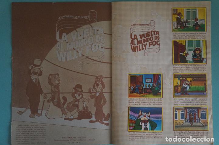 Coleccionismo Álbum: ÁLBUM COMPLETO DE LA VUELTA AL MUNDO DE WILLY FOG AÑO 1983 DE DANONE - Foto 2 - 132451226