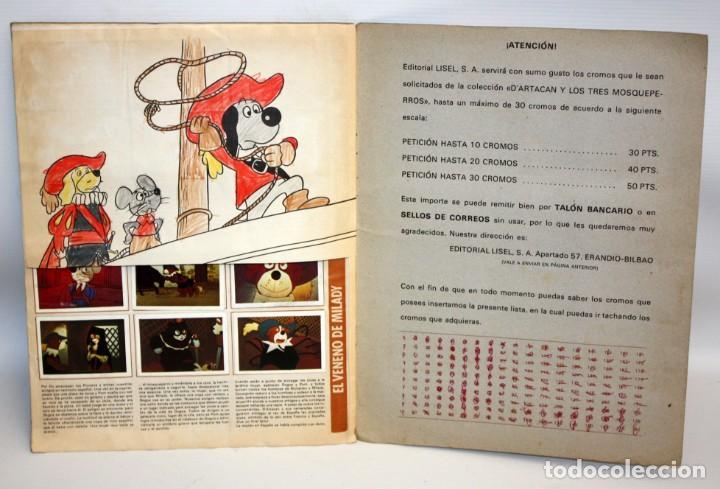 Coleccionismo Álbum: ALBUM DARTACAN Y LOS TRES MOSQUETEROS. AÑO 1981. EDITORIAL LISEL S.A.COMPLETO. - Foto 5 - 132630202