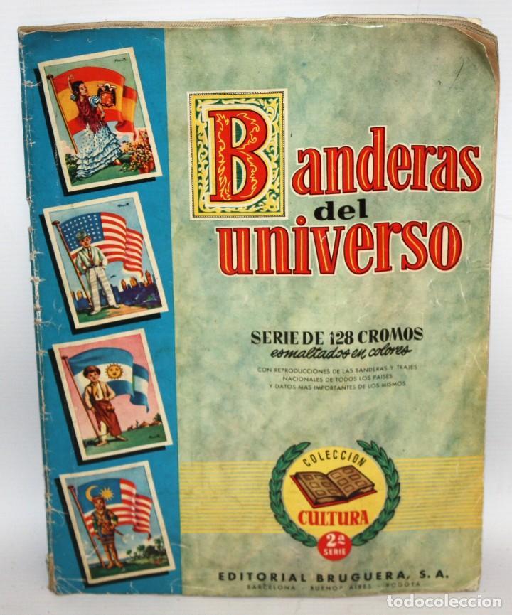 ALBUM BANDERAS DEL UNIVERSO (COMPLETO),EDITORIAL BRUGUERA. (Coleccionismo - Cromos y Álbumes - Álbumes Completos)