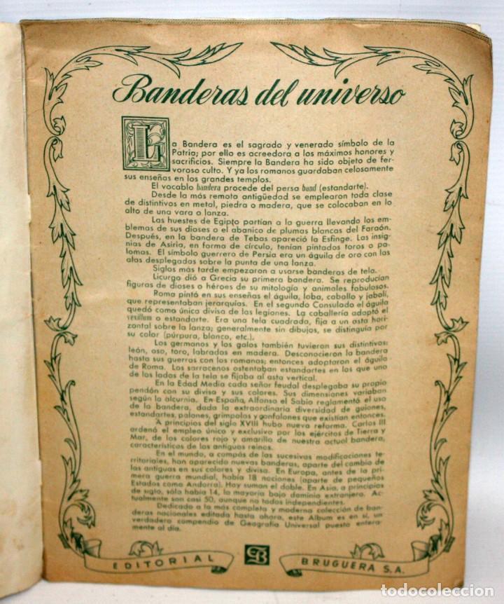 Coleccionismo Álbum: ALBUM BANDERAS DEL UNIVERSO (COMPLETO),EDITORIAL BRUGUERA. - Foto 3 - 132631414