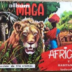 Coleccionismo Álbum: ÁLBUM AFRICA Y SUS HABITANTES - MAGA - AÑO 1965 - COMPLETO. Lote 132724790