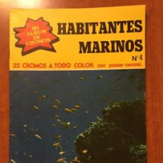 Coleccionismo Álbum: ALBUM COMPLETO HABITANTES MARINOS 1979 . Lote 132730614