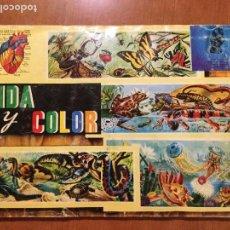 Coleccionismo Álbum: ALBUM COMPLETO VIDA Y COLOR AÑO 1965.. Lote 132730882