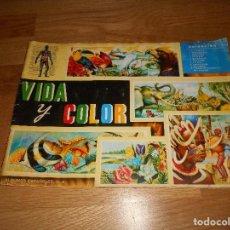 Coleccionismo Álbum: ALBUM CROMOS COMPLETO DE 1965 VIDA Y COLOR ANIMALES RAZAS ETC B.E.. Lote 132856270