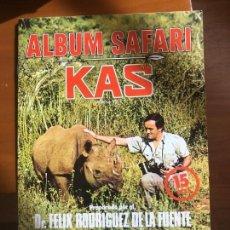 Coleccionismo Álbum: ALBUM SAFARI KAS COMPLETO IMPECABLE. Lote 133201346