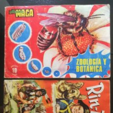 Coleccionismo Álbum: LOTE ÁLBUMES DE CROMOS RIN TIN TIN FHER 1962 NO DISGRA Y MAGA ZOOLOGÍA Y BOTÁNICA. Lote 133374574