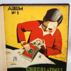 Coleccionismo Álbum: ALBUM Nº1 CHOCOLATINES AGUILA (1932) COMPLETO ENCUADERNACIÓN DE LUJO. MUY RARO.. Lote 134053742