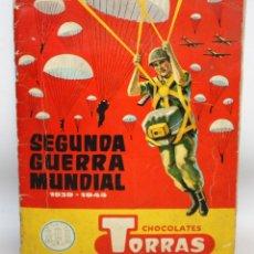 Coleccionismo Álbum: ALBUM SEGUNDA GUERRA MUNDIAL (1939-1945) CHOCOLATES TORRAS.1958.. Lote 134055226