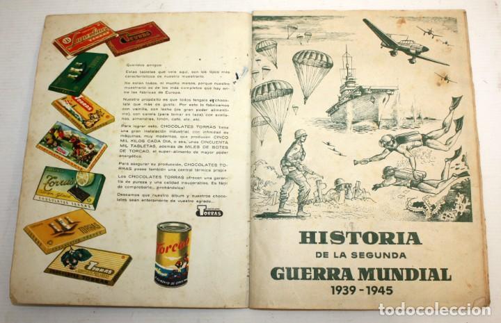 Coleccionismo Álbum: ALBUM SEGUNDA GUERRA MUNDIAL (1939-1945) CHOCOLATES TORRAS.1958. - Foto 4 - 134055226