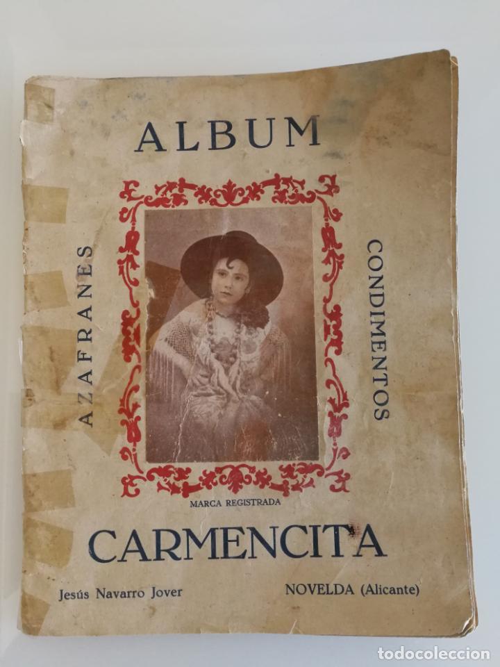 ALBUM CONDIMENTOS AZAFRANES CARMENCITA ACTORES MUNDO ANIMAL COMPLETO (Coleccionismo - Cromos y Álbumes - Álbumes Completos)