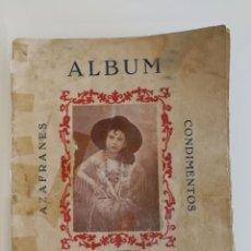Coleccionismo Álbum: ALBUM CONDIMENTOS AZAFRANES CARMENCITA ACTORES MUNDO ANIMAL COMPLETO. Lote 134080606