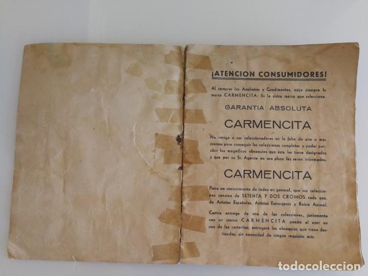 Coleccionismo Álbum: ALBUM CONDIMENTOS AZAFRANES CARMENCITA ACTORES MUNDO ANIMAL COMPLETO - Foto 2 - 134080606