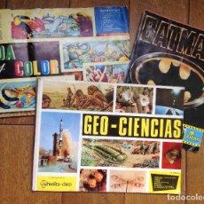 Coleccionismo Álbum: LOTE DE 3 ALBUMES CROMOS ANTIGUOS , GEO CIENCIAS AÑOS 60 , BATMAN Y VIDA Y COLOR . Lote 134330858