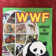 Coleccionismo Álbum: ÁLBUM COMPLETO WWF ADENA ANIMALES EN PELIGRO PANINI VER FOTOS 360 CROMOS. Lote 134748610