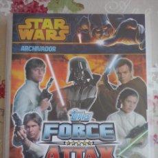 Coleccionismo Álbum: TOPPS - ALBUM COMPLETO STAR WARS FORCE ATTAX 2013 SERIE 3 (TRASERA ROJA).PERFECTO ESTADO.242 CARDS. Lote 135017822