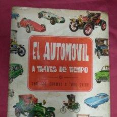 Coleccionismo Álbum: ALBUM DE CROMOS. EL AUTOMOVIL A TRAVES DEL TIEMPO. COMPLETO. EDICIONES RAKER. Lote 135274122