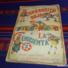 Coleccionismo Álbum: BUEN PRECIO, ÁLBUM DE LUJO CAPERUCITA ROJA PULGARCITO Y LA CENICIENTA COMPLETO 208 CROMOS. FHER . Lote 135657907