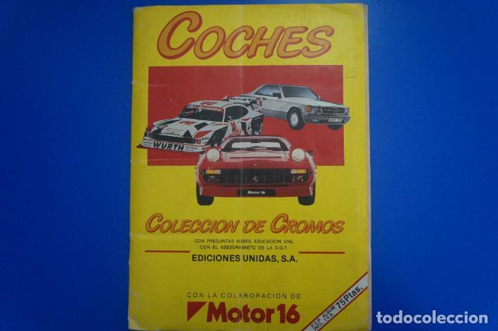 ALBUM COMPLETO DE COCHES AÑO 1986 DE EDICIONES UNIDAS (Coleccionismo - Cromos y Álbumes - Álbumes Completos)