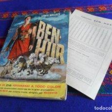Coleccionismo Álbum: BEN HUR BEN-HUR COMPLETO CON CUPÓN SIN RELLENAR. BRUGUERA 1959. REGALO ÁLBUM DE BEN HUR INCOMPLETO.. Lote 136043146