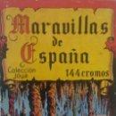 Coleccionismo Álbum: ALBUM CROMOS COMPLETO.MARAVILLAS DE ESPAÑA.. Lote 137214646