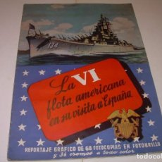 Coleccionismo Álbum: ALBUM COMPLETO....LA VI FLOTA AMERICANA EN SU VISITA A ESPAÑA, 104 CROMOS.. Lote 137215322