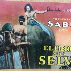 Coleccionismo Álbum: ÁLBUM CHOCOLATES OLLÉ PRESENTA A SABU EN EL LIBRO DE LA SELVA - AÑO 1944 - COMPLETO. Lote 137918906