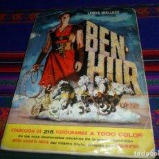 Coleccionismo Álbum: BEN HUR BEN-HUR COMPLETO 216 CROMOS. BRUGUERA 1960. REGALO EL CID INCOMPLETO DE FHER.. Lote 138000698