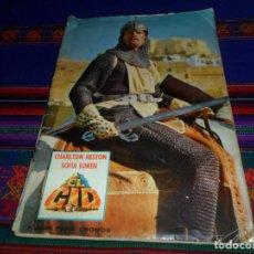 Coleccionismo Álbum: EL CID COMPLETO. FHER 1962. CHARLTON HESTON Y SOFIA LOREN.. Lote 138000870