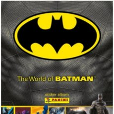 Coleccionismo Álbum: FULL STICKER ALBUM THE WORLD OF BATMAN STICKERS WITHOUT STICKING 2016. Lote 138083246