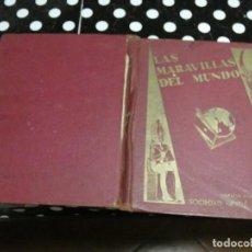 Coleccionismo Álbum: ALBUM DE CROMOS LAS MARAVILLAS DEL MUNDO NESTLE MUY ANTIGUO ESTADO BATANTE DECENTE PESA 800 GRAMOS. Lote 138823102